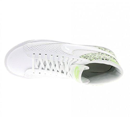 Nike Mujeres Blazer Mid Prm Hi Top Trainers 403729 Zapatillas De Deporte Blanco Ghost Green Pure Platinum 105
