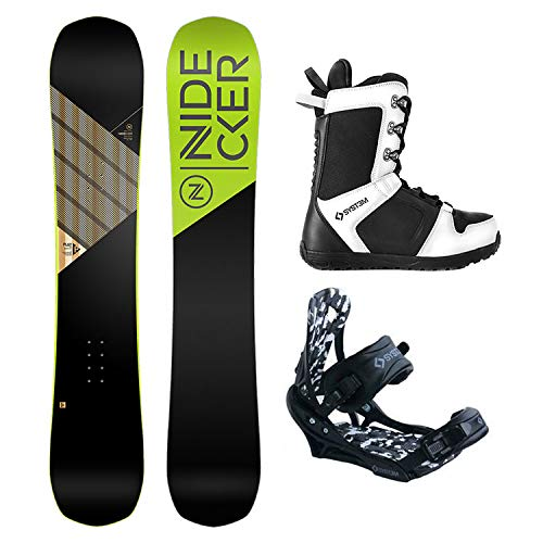 Nidecker Package Play Snowboard 159 cm Wide-System APX Bindings-System 2019 APX Boots 12