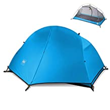 Azarxis 1-2 Person 3 Season Tent Lightweight Waterproof Double Layer Backpacking Tent for Outdoor Camping Hiking