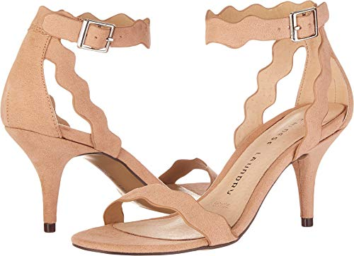 Chinese Laundry Women's Rubie Dress Sandal, Dark Nude Suede,  9 M US