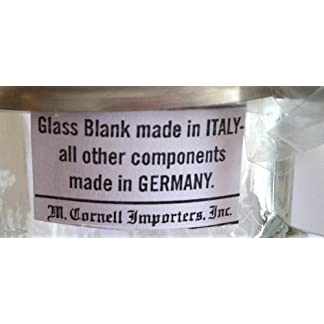 Ireland Irish German Glass Beer Stein Mug Pewter Four Leaf Clover Claddaugh Cornell 5930