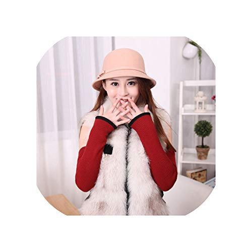 Women Winter Soft Warm Cashmere Knit Cuff Long Gloves 2 Layer Wool Autumn Solid Warmer Knitted Oversleeve Soft Sleevelet