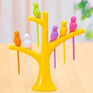Birdie Fruit Fork Birds On The Tree Dessert Cake Fruit Picks Dinnerware Sets