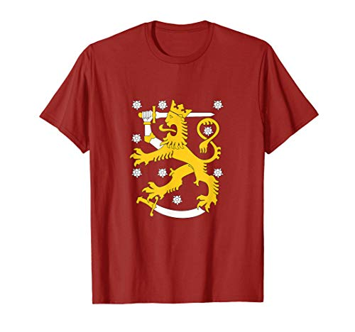 Finland Coat Of Arms Shirt Finnish Lion Symbol T-Shirt (Of Finnish Arms Coat)