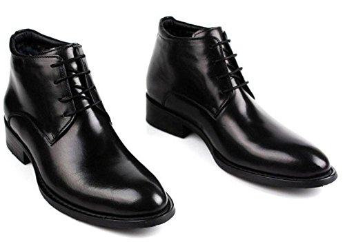 Invierno Hombres Algodón Cuero Botas Con cordones Negocio Formal Mantener Calentar Casual Negro marrón tamaño 37-44 black