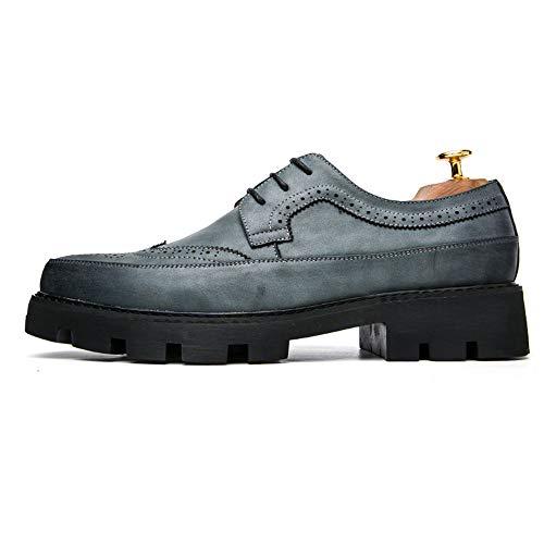 A Jusheng Para Prueba 37 Puntas Gris Estrecha Tamaño Zapatos Puntiagudas Azul Hombre De Impermeables color Eu Punta Oxford Agua r4wrxnFq