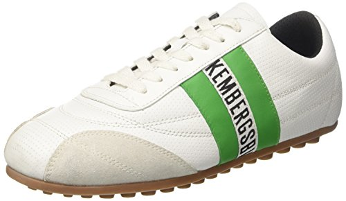Bikkembergs Soccer 106, Basses Mixte Adulte Bianco (White/Green)
