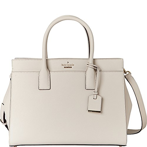 kate spade new york cameron street - candace leather satchel, cement by Kate Spade New York