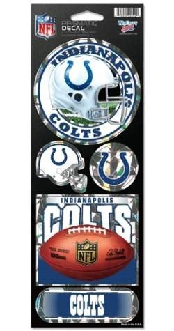 NFL Indianapolis Colts Prismatic Stickers, Team Color, One Size