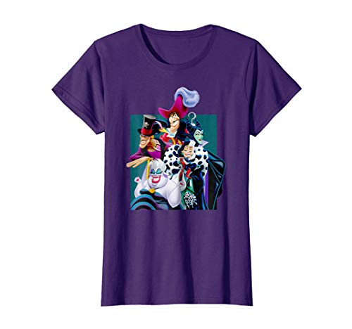 Womens Disney Villains Group T Shirt Large Purple ()