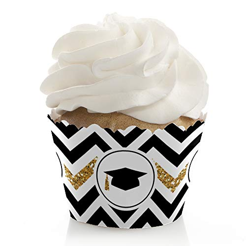Gold Tassel Worth The Hassle - Graduation Party Decorations - Party Cupcake Wrappers - Set of 12 ()