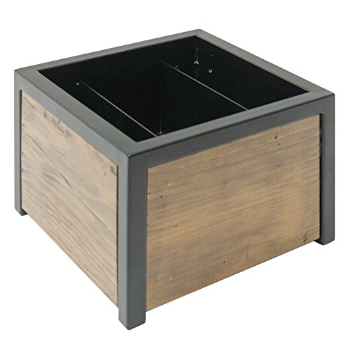 Reclaimed Wood Square Alternative Chafer - 12''L x 12''W x 7 1/8''H by Hubert (Image #1)