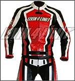 Motorrad Lederkombi Motorradkombi Leder Motorradjacke + Motorradhose ducati-aprilia-rot