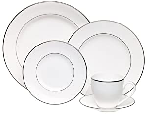 Lenox Continental Dining Platinum Banded 5 Piece Place Setting, Service For  1