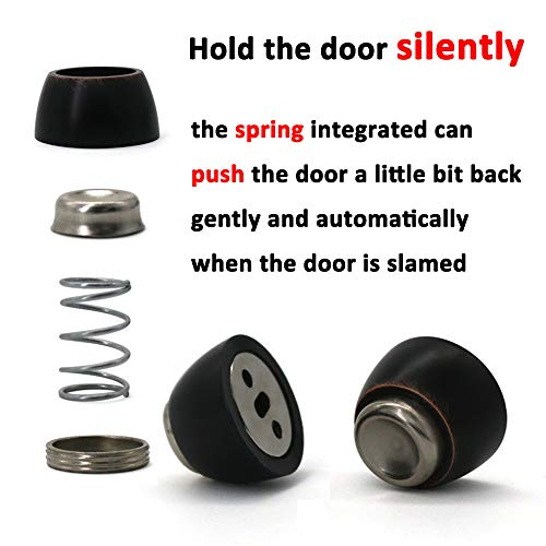 Oil Rubbed Bronze LUANT Solid Mental Magnetic Door Stop Wall Mounted