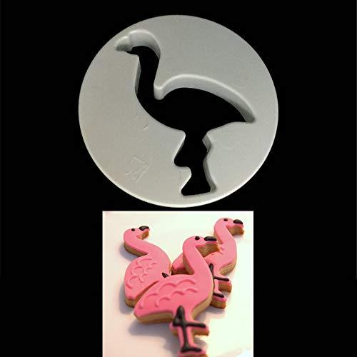 (1 piece 1PC Flamingo Cookie Cutter Stamps Plastic Cookie Biscuit Decoration Mold Animal Shape Cake Fondant Sugarcraft moulds)