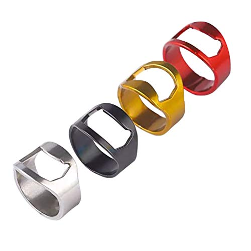 UMFun Stainless Steel Finger Thumb Ring Bottle Open Opener Bar Beer Tool Gifts