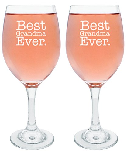 - Mothers Day Gifts for Grandma Best Grandma Ever Gifts for Grandma Gift Wine Glasses 2-Pack Wine Glass Set