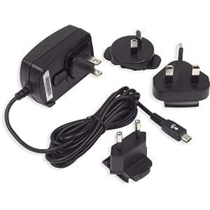Blackberry - Cargador de viaje micro USB (3 enchufes), color negro