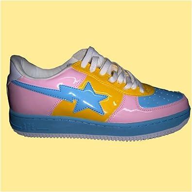 Bape New Mens shoes Pink-Blue