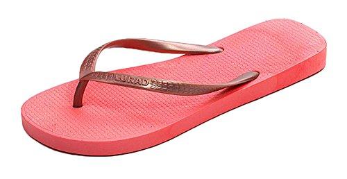 Sandalias antideslizantes de la playa de los flips-flopes del verano de las señoras