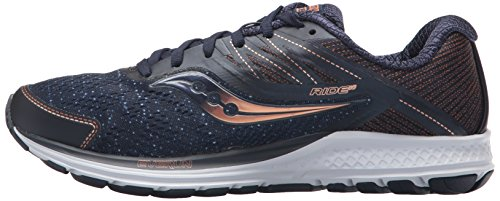 Saucony Ride 10 30 Shoes Blue navy copper Running Women''s denim HTqAxw6HO1