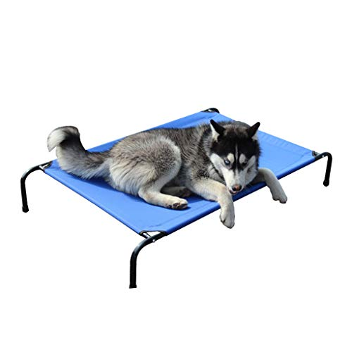 (Pet Bed Golden Retriever Kennel Four Seasons Universal Removable and Washable Dog Bed Wrought Iron Medium Large Dog Bed pet Supplies Breathable Blue pet Bed Simple Detachable Gift)