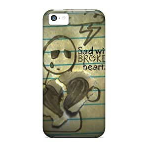 Favorcase Shockproof Scratcheproof Sad Wd Broken Heart Hard Cases Covers For Iphone 5c