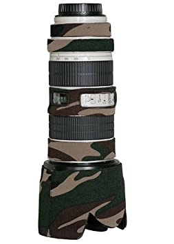 LensCoat LC70200FG Canon 70 200IS f/2.8 Lens Cover  Forest Green Camo  Cameras   Photography
