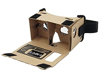 Google Cardboard,3Csmart 3D VR Virtual Reality DIY Glasses For 3D Movies and Games Compatible