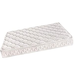 Comfort Crib Baby Mattress Sponge Toddler Bed Mattress 5-inch for Baby with Breathable and Removable Knitted Fabric Cover,Washable Outer Covers White,52″ x 27″