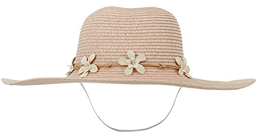 ThunderCloud Women's Spring/Summer Wide Brim Straw Beach Sun - Bands Pink Ray