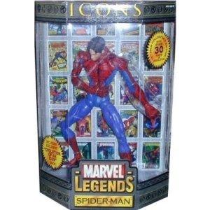 Marvel Legends Icons 12 Inch Spider Man Unmasked Toy Biz