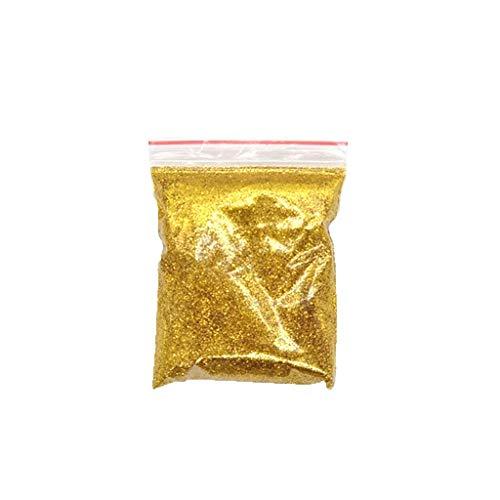 Fan-Ling Glitter Powder Paint Pigment,50g Pet Environmental Protection Bright Powder Flash Powder Art Paint for Decorative Painting (Gold)