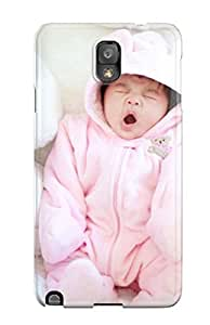 Series Skin Case Cover For Galaxy Note 3(cute Baby Yawning)