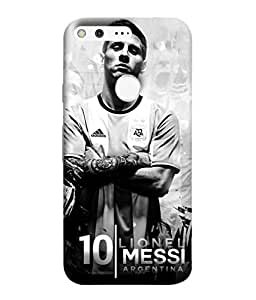 ColorKing Football Messi Argentina 21 Grey shell case cover for Google Pixel XL