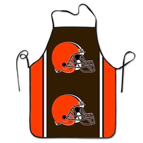 Football Bbq Apron - Sorcerer Design Kitchen Apron Women Men Cleveland Browns American Football Team Unisex Kitchen Bib Chef Apron Cooking Baking Gardening Multicolor