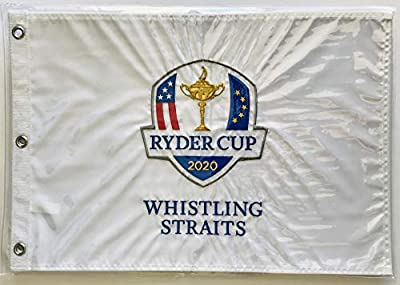 2020 Ryder Cup golf flag whistling straits embroidered logo pin flag new