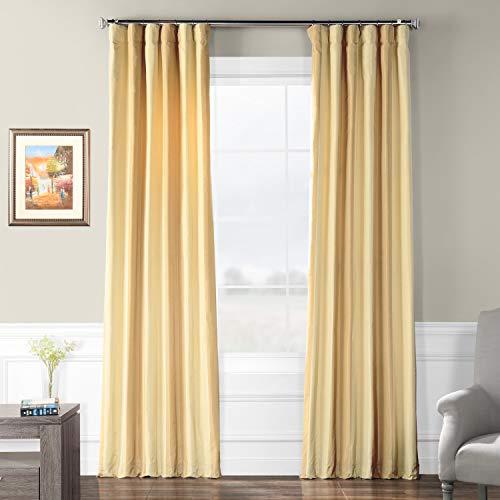 Pts-SLK003-96 Faux Silk Stripe Curtain, 50 x 96