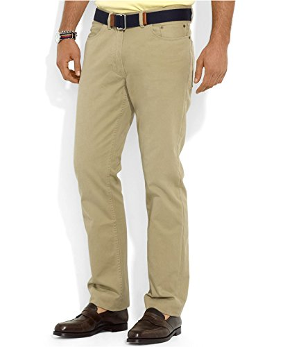 Polo Ralph Lauren Men's Flat Front Straight-Fit Pants, W38/L30 , Burmese Tan ()