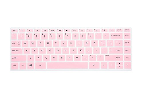 Leze - Ultra Thin Soft Keyboard Protector Skin Cover for 13.3 HP Spectre x360 2-in-1 13-w013dx 13-ac013dx 13-ac023dx 13-ac033dx 13-ac036dx 13-AD 13-AE 13-AF Series Touch Laptop - Pink