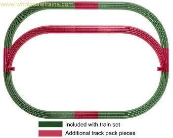 Lionel LIO12031 Fto Outer Passing Loop Add-On Pack by Lionel - Lionel Outer Passing Loop
