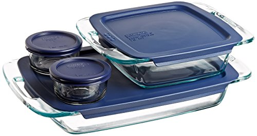 Pyrex Easy Grab Glass Bakeware and Food Storage Set (8-Piece, ()