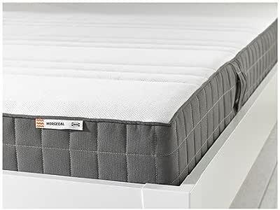 ikea morgedal queen size foam mattress firm dark gray kitchen