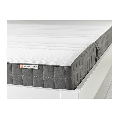 IKEA MORGEDAL Queen Size Foam mattress, firm, dark gray 826.232311.3438