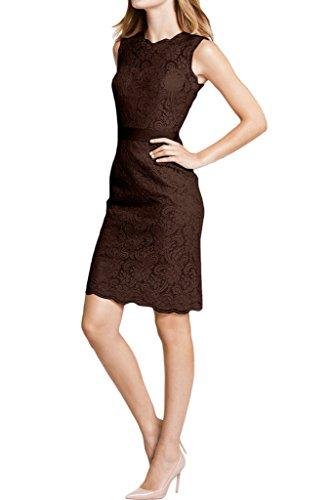 Abendkleid Spitze Ivydressing Schokolade Etui Damen Festkleid Rundkragen Linie q6gYwI6
