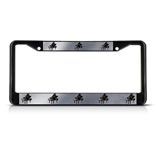 piano-musical-instrument-metal-black-license-plate-frame-tag-holder