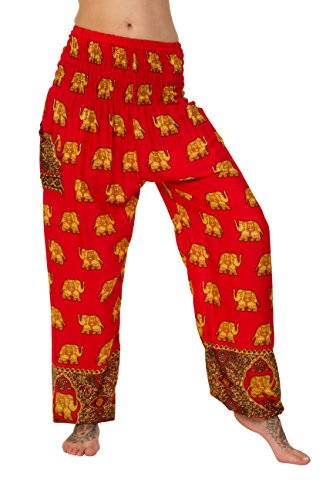 Golden One Size Thaiuk Elephants Pantalon Femme 40