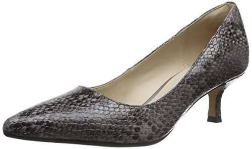 Clarks Aquifer Soda, Zapatos de Tacón para Mujer Morado (Purple Grey Snake Leather)