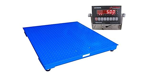 Amazon.com: Optima Scales OP-916-4x4-5-NN Heavy Duty Pallet Scale - 4 x 4 ft., 5000 x 1 lb: Industrial & Scientific